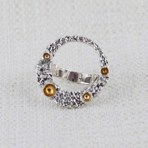 Anello Moon Ring con Dorature 3