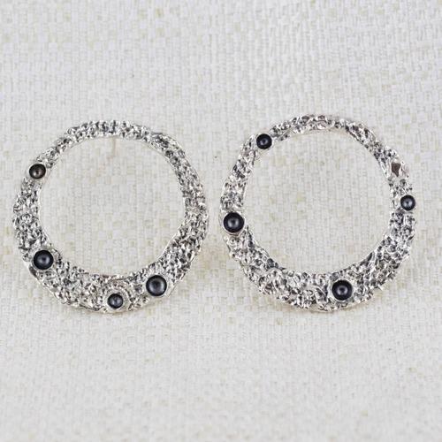 Orecchini Moon Ring Large con Bruniture 5
