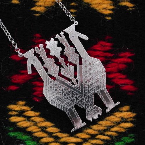 """Collana """"Pavoncelle""""  (Dettaglio del tappeto) Collezione""""Li Trami -Aggius"""" 9"""