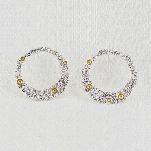 Orecchini Moon Ring Large con Dorature 5