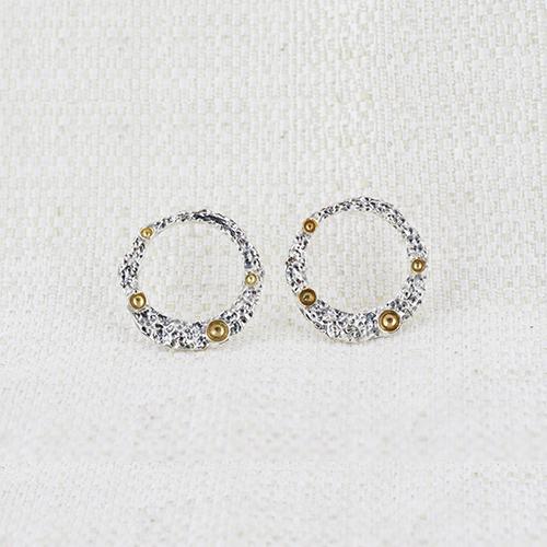 Orecchini Moon Ring Small con Dorature 3